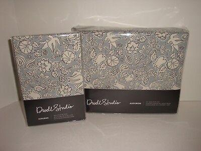 DwellStudio Audubon Full Queen Duvet Cover Euro Shams Set Bird Floral Porcelain