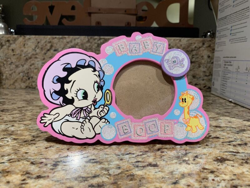 Licensed Pink BABY BETTY BOOP Bubbles WOOD PHOTO Picture Photograph FRAME NEW-B8