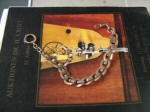 Big antique Kollmar & Joudan Pforzheim GF pocket watch chain for russian market - <span itemprop='availableAtOrFrom'>Bialystok, Polska</span> - Big antique Kollmar & Joudan Pforzheim GF pocket watch chain for russian market - Bialystok, Polska