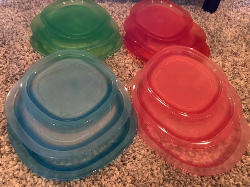 Tupperware Luncheon And Dessert Plates - Set Of 12