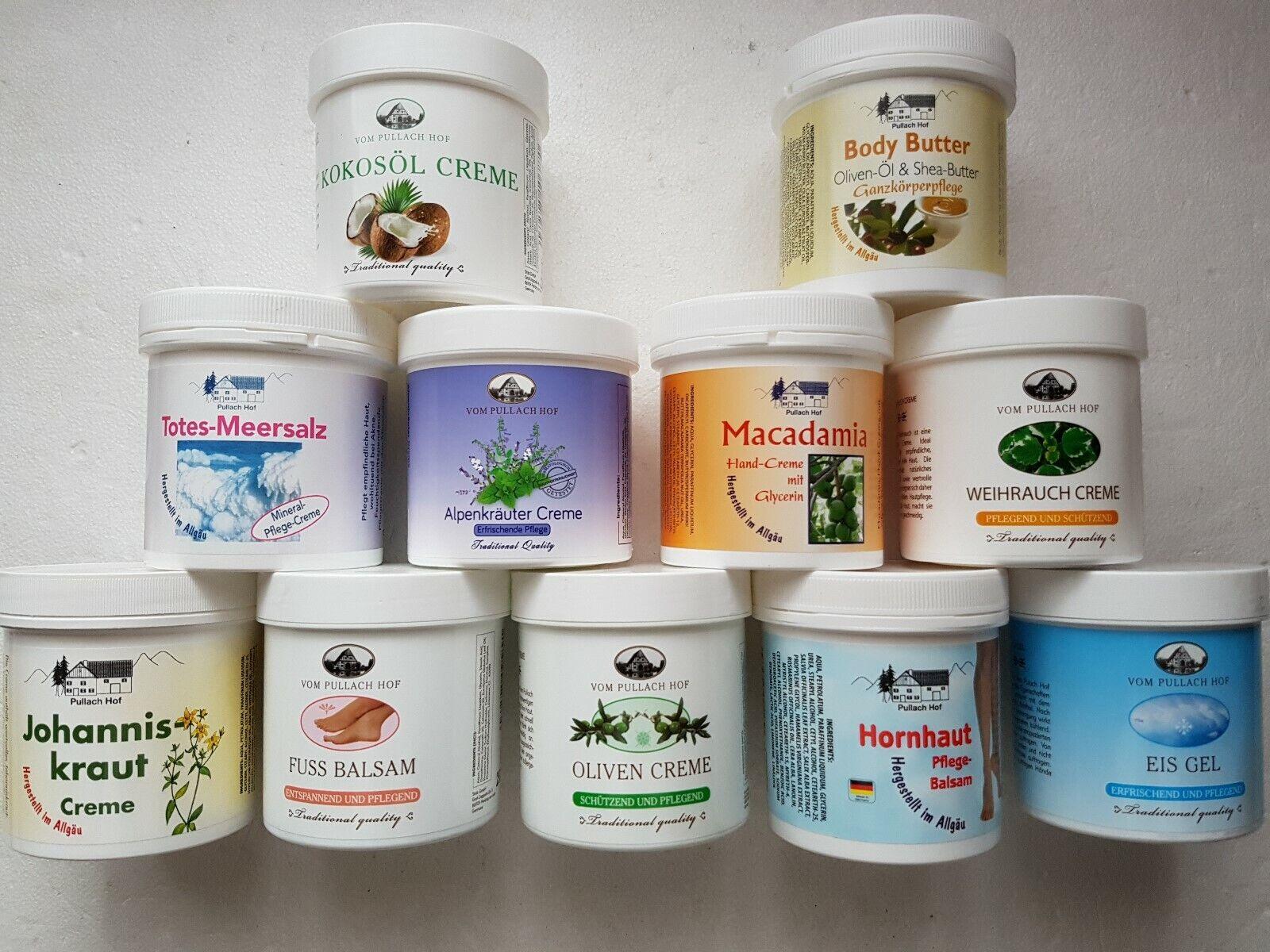 Haut Creme/Gel/Balsam 250ml/500m Vom Pullach Hof 35 verschiedene Sorten  Auswahl