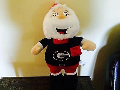 "UGA University Of Georgia Bulldogs 16"" Plush Stuffed Santa"