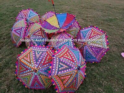 Indio Completo Pegatina Parasol Decorativo Boda Bordado Paraguas Al por Mayor