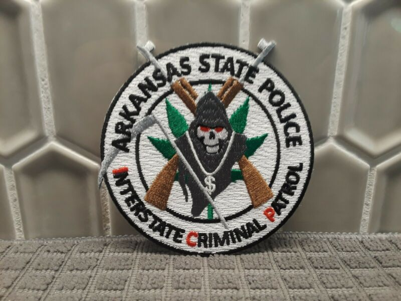 Arkansas State Police, ICP, Highway Drug Interdiction patch (Rare Patch)