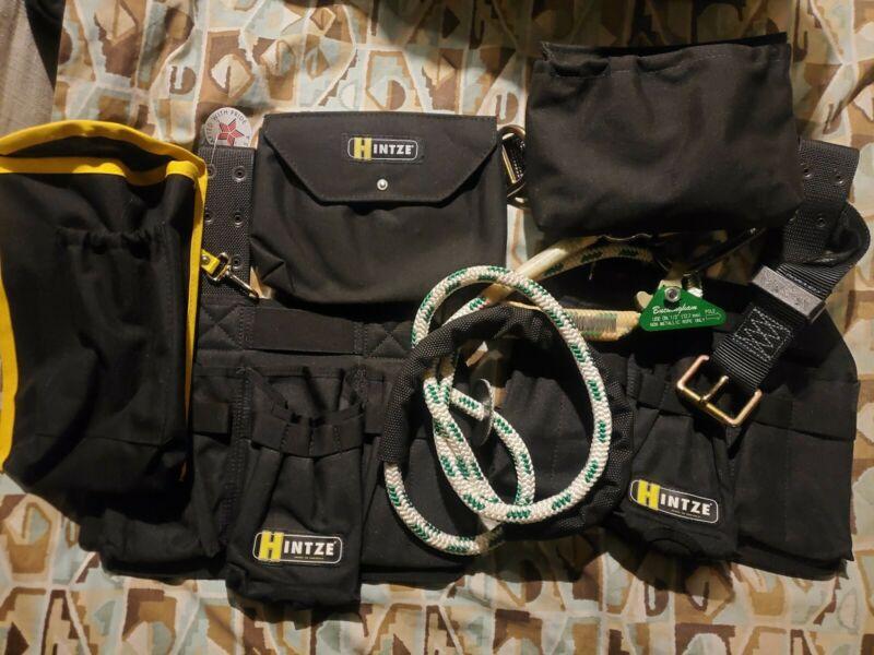 Hintze Climbing Belt with Buckingham BuckAdjuster 9A4-8 pole strap