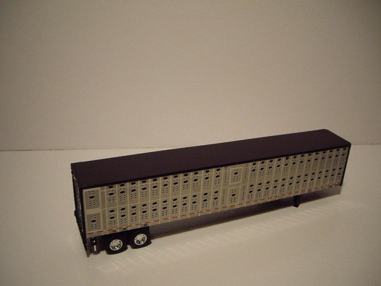 DCP FIRST GEAR 1/64 BLACK AND SILVER PSAL TANDEM AXLE LIVESTOCK  4