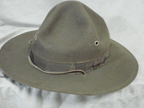 Vintage Boy Scout Hat Embossed Band 7 BSA Official