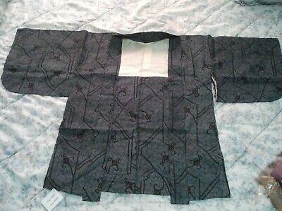 Kimono antiguo de Japón. Hombre, mujer y cadete.
