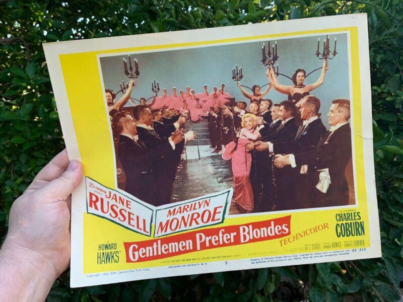 MARILYN MONROE Gentlemen Prefer Blondes original lobby card #5