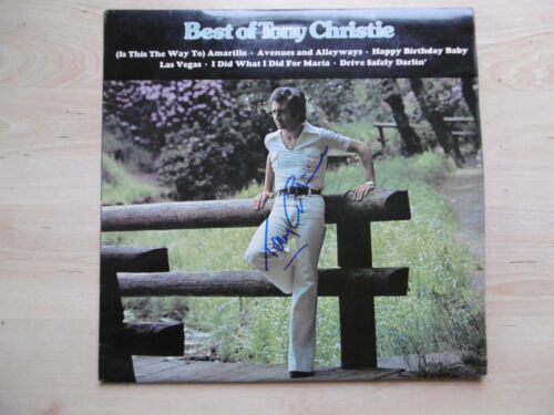 "Tony Christie Autogramm signed LP-Cover ""Best Of"" Vinyl"