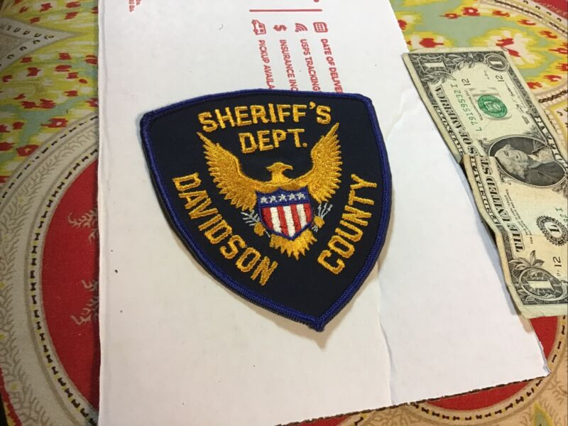 Davidson County Tennessee Sheriff's Department Patch New Old Stock