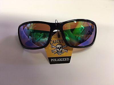 New Calcutta Bimini Sunglasses - Shiny Black Frame/Green Mirror (Calcutta Bimini Sunglasses)