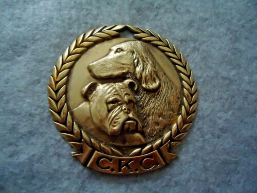 Vintage C.K. C. ( Canadian Kennel Club ) Brass Gold Tone Award Medal Tag