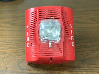 System Sensor Spsr Fire Alarm Speakerstrobe Wall Red No Mounting Bracket