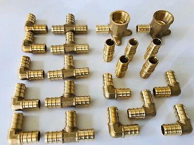 12 Pex Fittings 2 12x12drop-ear Elbow 10 Elbows5 Couplings5 Tees