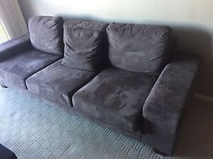 Microsuede Sofa (Couch) - 3 seater Adelaide CBD Adelaide City Preview