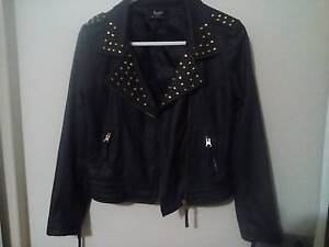 Bardot Junior Leather Look Bomber Jacket (14) Hillcrest Port Adelaide Area Preview