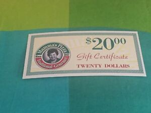 Selling Mamma's Pizza Gift cards worth $250!