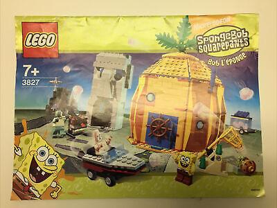 Lego 3827 SpongeBob SQUAREPANTS Building Instruction MANAUL ONLY NO BRICKS