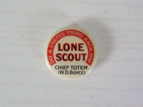 Lone Scout Boy Scout First Style Membership Pin Button 1915-1916
