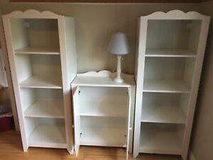 Shelves and bookcase