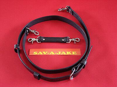 Sav-a-jake Firefighter 2 Pc. Leather Radio Strap Set Black Regular Size