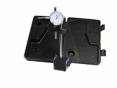 New Dial Indicator With On-off Magnetic Base 0 To 1 Set In Case