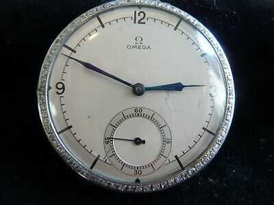 VINTAGE OMEGA DIAMOND PLATINUM POCKET WATCH