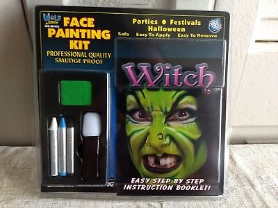 Witch Face Painting Kit Halloween Make Up WK-WHO2 Wolf Novelties