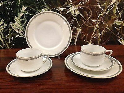 PMR Bavaria - 2 Antique Coffee Table Settings with Decor : Greek Strap