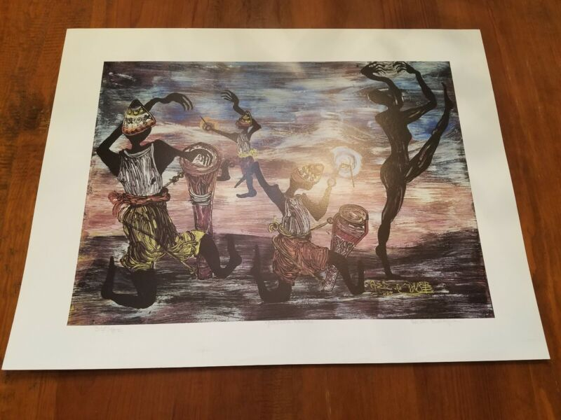 """"""" Graduate Artists """" Aziz Diagne limited edition  signed / numbered"""