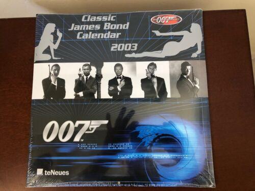 James Bond 007 Calendar 2003 Classic James Bond - Sealed
