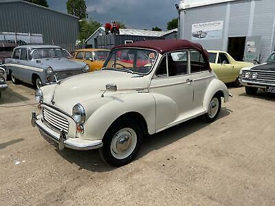 Morris Minor convertible, new roof, nice car and ready to use.