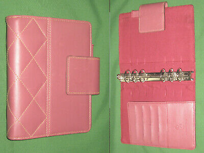 Compact 1.0 Pink Faux Leather Franklin Covey 365 Planner Open Binder 2212