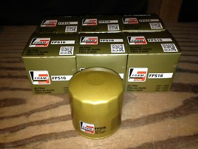 SIX(6) Fram Pro Synthetic FPS16 Oil Filter CASE fits PH16 XG16 51085 PH253