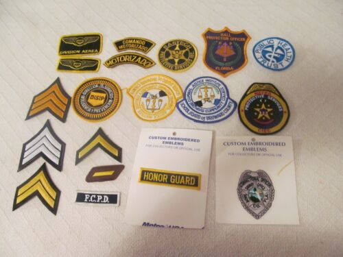 HUGE LOT OF 19 DIFFERENT  POLICE & SECURITY PATCHES; LOT # 1