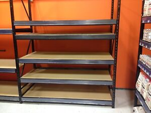 Industrial strength shelving units