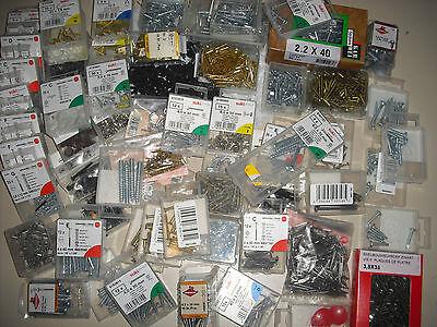 30 Packungen Schrauben, Nägel, Haken, usw. gemischt & Neu ! Eisenware Konvolut !