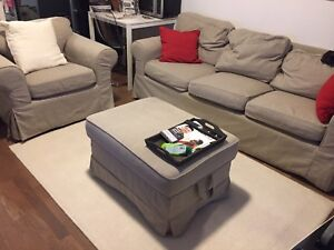 Moving sale ikea sofa couch set