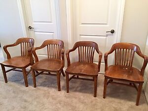 Antique bankers chairs