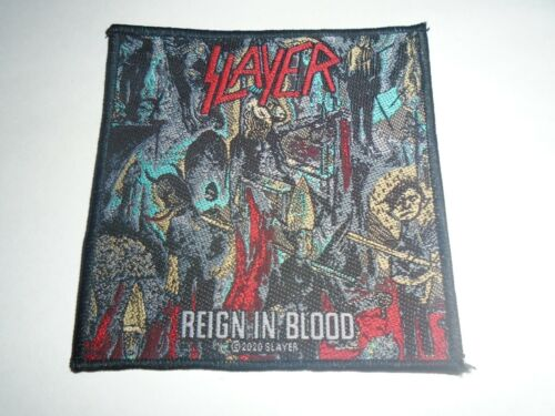SLAYER REIGN IN BLOOD WOVEN PATCH