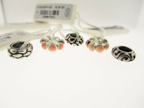 Persona Lot Of 5 Sterling Silver Peach New With Tags Charm Beads