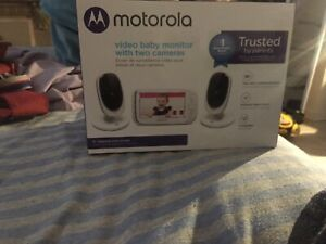 Video baby monitor with two cameras