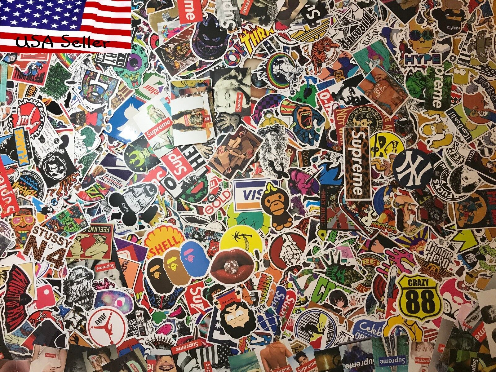 100 skateboard stickers bomb vinyl laptop luggage decals dope sticker lot cool stickers decals