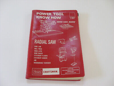 Sears Craftsman Power Tool Know How Radial Saw 1975 Manual 9-2917