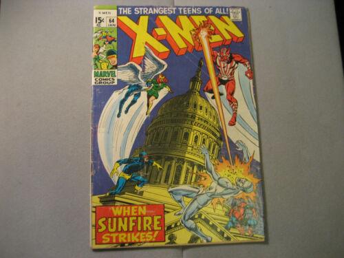 Uncanny X-Men #64 (1970 Marvel) 1st App Sunfire Low Grade READ