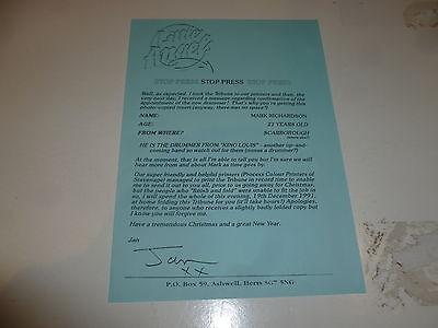 "LITTLE ANGELS - Stop Press ""Flyer"" - Mark Richardson - King louis Promo"