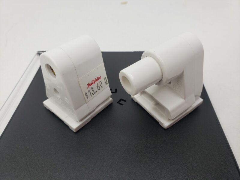 Leviton 2536 2537 Pair Single Pin Fa8 Fluorescent Lampholder Socket Both Ends