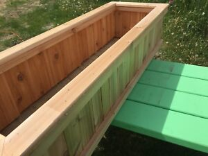 """Large cedar planter- 4' by 16"""" and 10"""" high"""