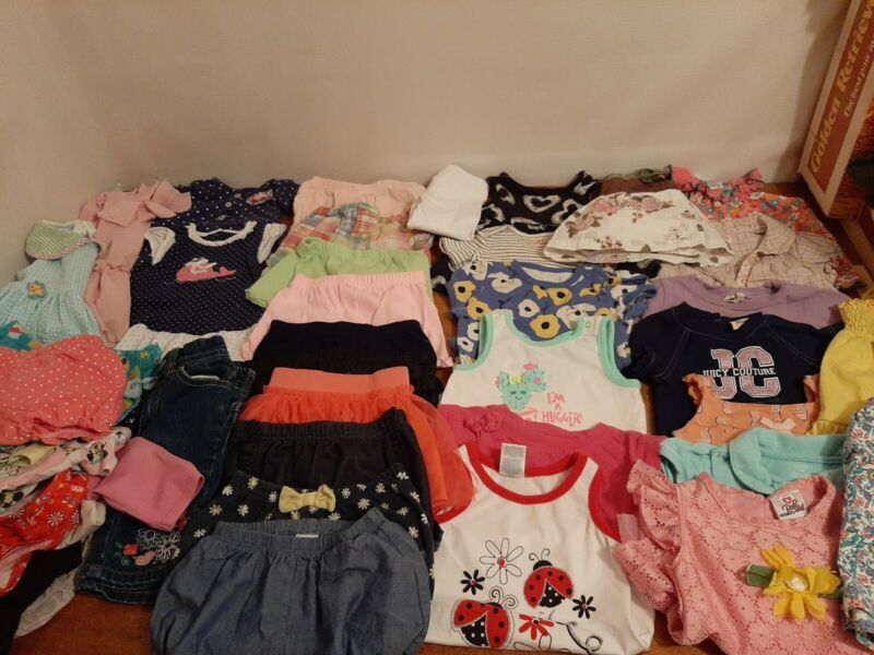 Lot Of 40, 12 Month Toddler Girls Clothes